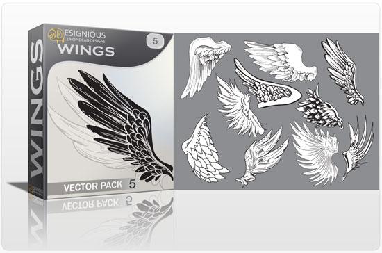 Wings vector pack 5 5