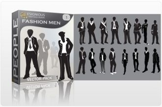Men Fashion vector pack People posing