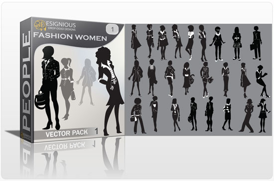 Women Fashion vector pack People adult
