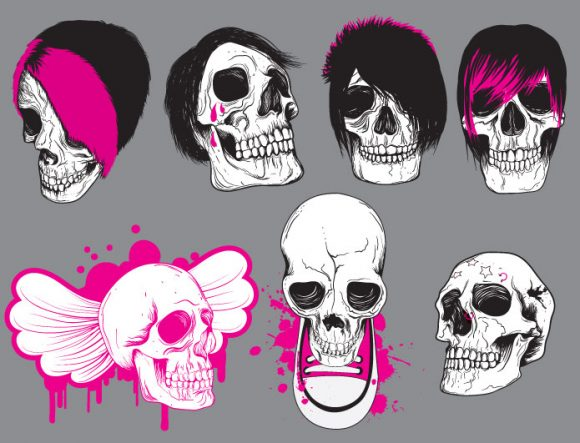 Skulls vector pack 9 products file 1 1