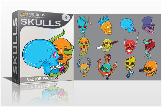 Skulls vector pack 8 products file 2