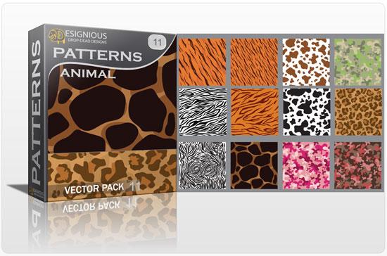 Seamless patterns vector pack 11 animal print Vector Patterns pattern