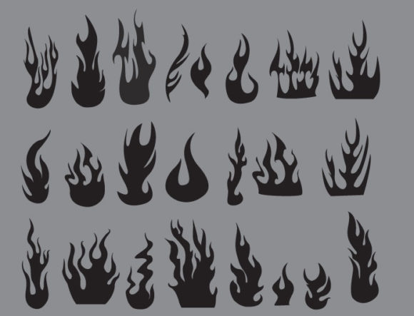 Flames vector pack products fire flames prewiev