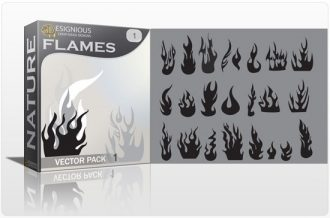Flames vector pack Nature symbol