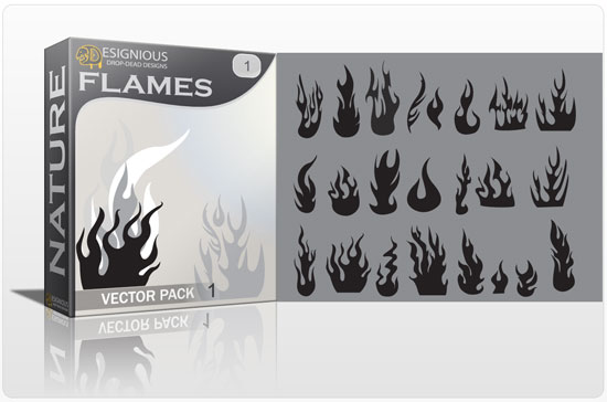 Flames vector pack products flames