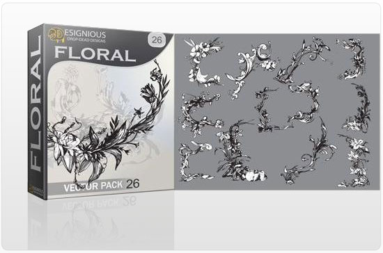 Floral vector pack 26 products floral 26 1