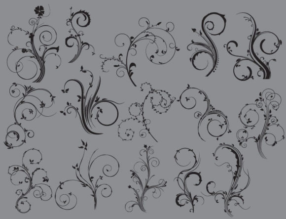 Floral vector pack 38 products floral 38 prewiev
