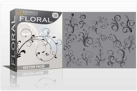 Floral vector pack 38 products floral 38