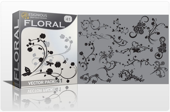 Floral vector pack 41 products floral 41
