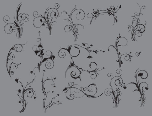 Floral vector pack 42 6