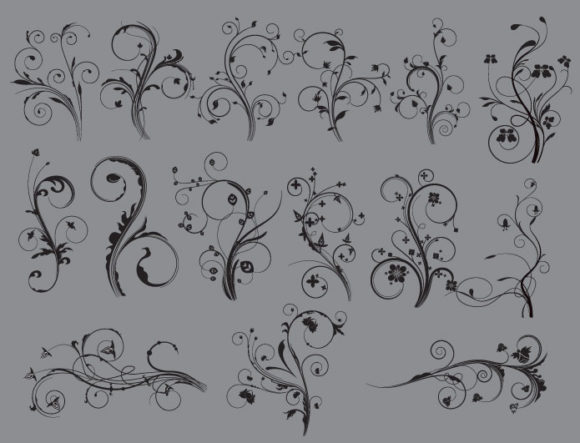 Floral vector pack 45 products floral 45 prewiev