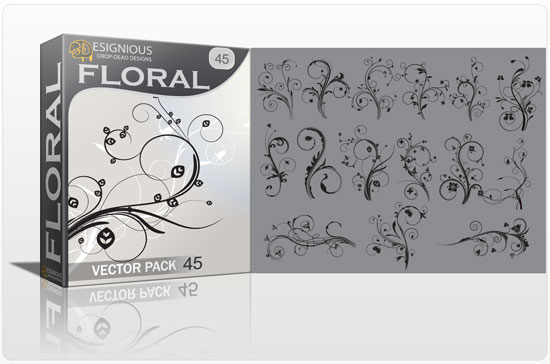 Floral vector pack 45 products floral 45