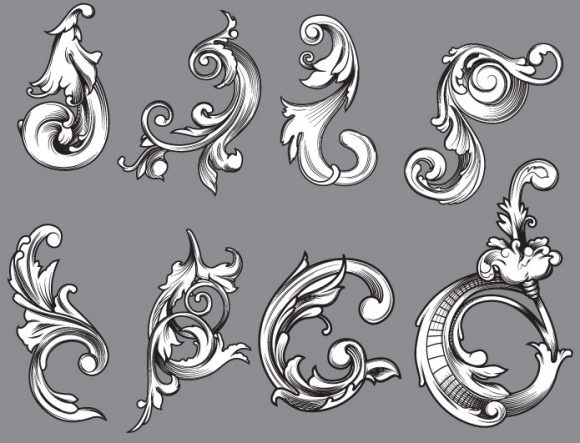 Floral vector pack 48 products floral 48 prewiev