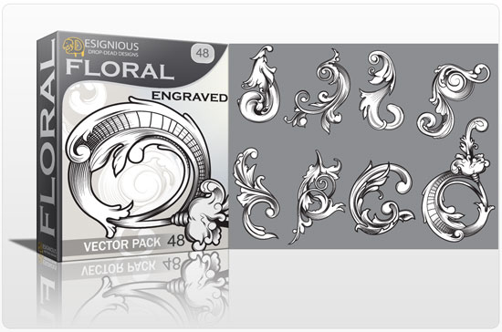 Floral vector pack 48 products floral 48