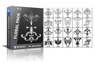 Floral brushes pack 13 Floral brushes [tag]