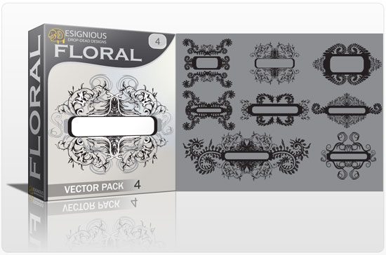 Floral vector pack 4 products floral drawing 4