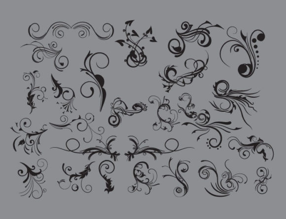 Floral vector pack 9 products floral elements 9