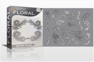 Floral vector pack 11 Floral [tag]