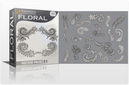 Floral vector pack 11 products floral elements11