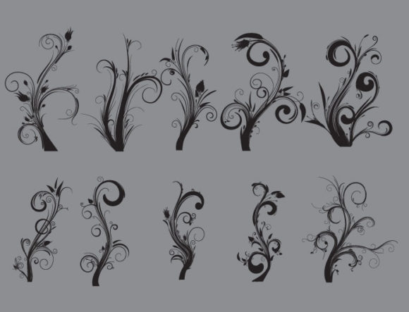 Floral vector pack 21 products floral foliage 21 prewiev