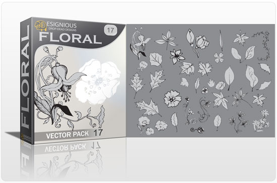 Floral vector pack 17 5