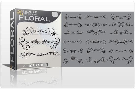 Floral vector pack 1 Floral floral
