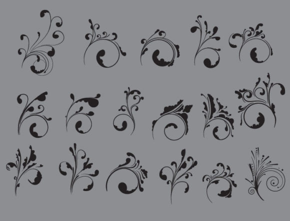 Floral vector pack 30 products floral ornates 30 prewiev