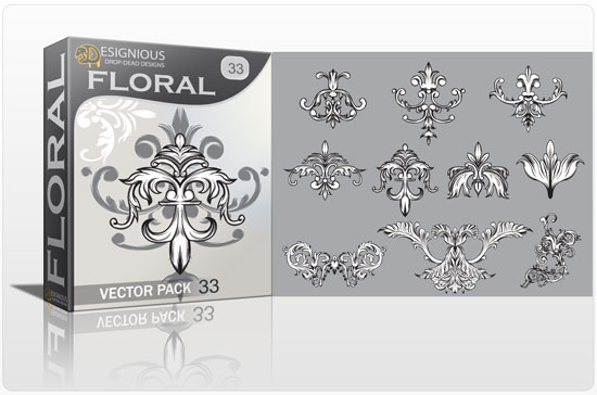Floral vector pack 33 products floral pattern 33