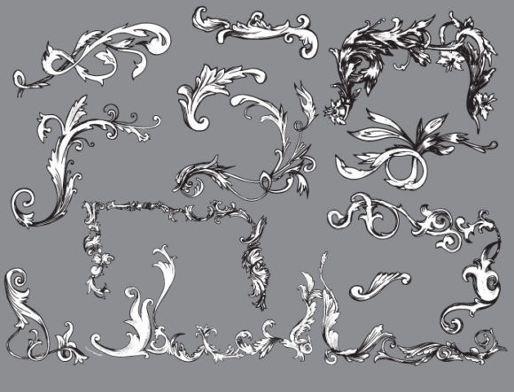 Floral vector pack 28 products floral plant 28 prewiev
