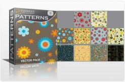 Seamless patterns vector pack 9 Patterns flower