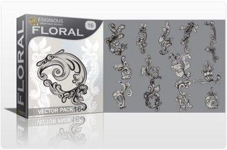 Floral vector pack 16 Floral floral
