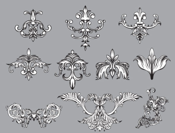 Floral vector pack 33 products floral victorian 33 prewiev