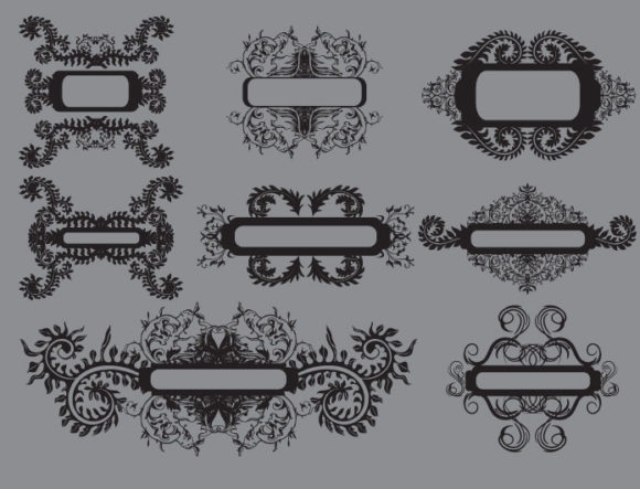Floral vector pack 4 products floral4 prewiev