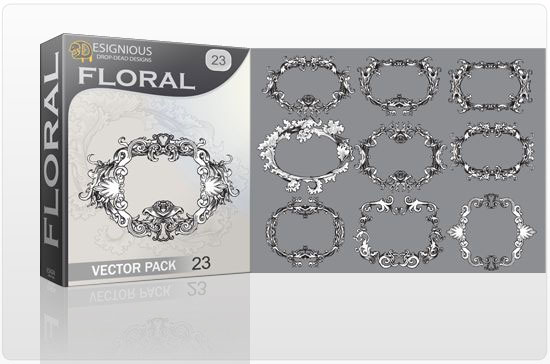 Floral vector pack 23 products flower 23