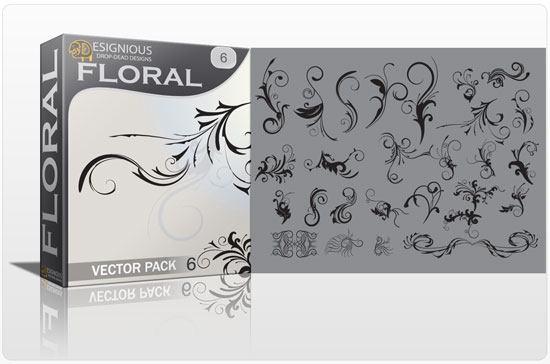 Floral vector pack 6 products flower 6