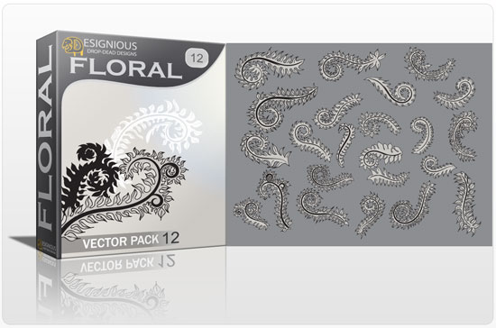 Floral vector pack 12 products flower graphic 12