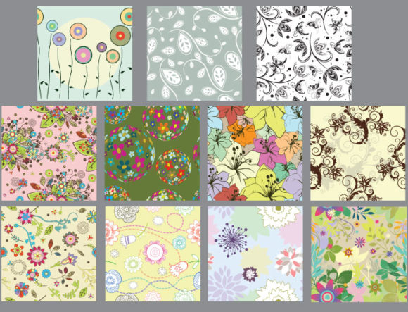 Seamless patterns vector pack 19 6