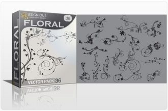 Floral vector pack 36 Floral wave