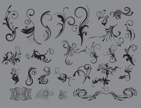 Floral vector pack 6 products flower vector 6