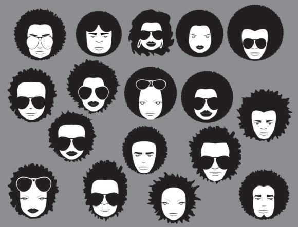 Funky faces vector pack 2