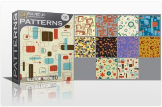 Seamless patterns vector pack 10 Vector Patterns retro