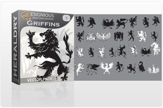 Griffins vector pack 1 products griffin antique bird