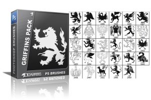 Griffins brushes pack 1 Heraldry brushes [tag]