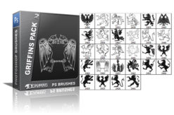 Griffins brushes pack 2 Heraldry brushes [tag]