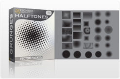 Halftone vector pack 1 Halftones & grunges vector