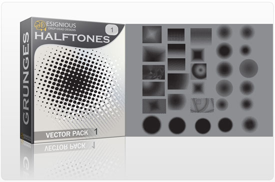 Halftone vector pack 1 products halftones