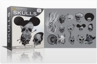 Skulls vector pack 2 Skulls bones