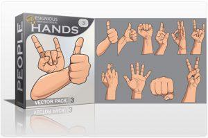 Hands vector pack 3 People POWER