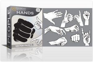 Hands vector pack 1 People POWER