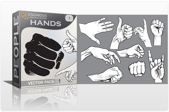 Hands vector pack 1 People POWER